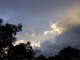 Sunbeams Through Clouds by borgking001a