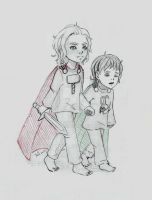 Little Thor and Loki by Juli556