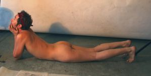 Reclining Male Nude 2 by TheMaleNudeStock