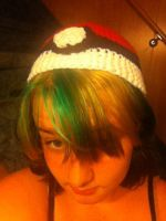 My pokeball hat :3 by Suskygirl