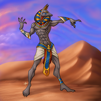 Anubis by EDsketch
