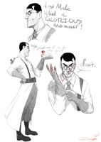 Medic sketches by Denimecho