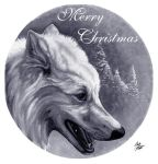 Wolf - Happy Holidays by jocarra