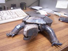 WIP scrap metal turtle by edstuff
