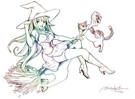 Witch Ninji and Buttons by Sherilyn