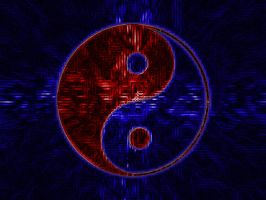 red and blue yinyang by Neo-NMO