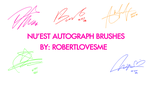 NU'EST Autograph Brushes by robertlovesme by robertlovesme