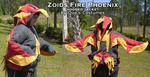 Zoids Fire Phoenix Hooded Jacket by Que-Sera-Sera