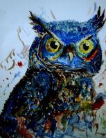 Owl painting... by Angelic-Painter
