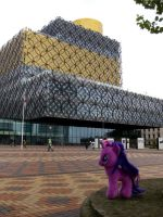 Twilight at the Library of Birmingham by loganberrybunny