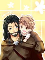 Thorin and bilbo by Sanakii