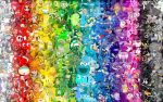 Rainbow pop culture character collage by JDreever18