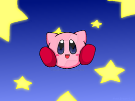 Kirby and the Stars by MusicDrawer123
