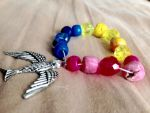 Pansexual bracelet by NocturnalScribe