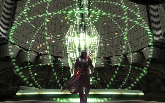 Revan in the War room room by b-312
