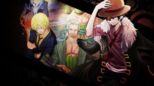 One Piece Monster Trio Wallpaper HD by Tahmidismyname