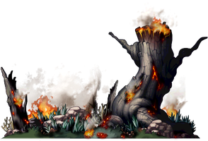 Burning Forest PNG by JayAmIn
