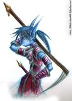 Colour Pencil - Warrior by bluphino