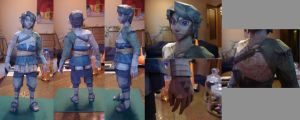 Farmer Link papercraft by RememberingChildhood