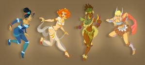 The four elements by Breloque