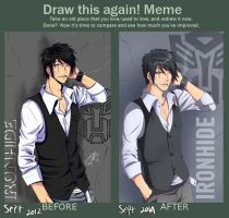 Before-After meme : TF [ IRONHIDE ] gijinka by 15DEATH