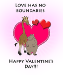 Gloria and Melman Valentine's Day Card by BennytheBeast