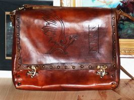 Munin leather bag by funkydpression