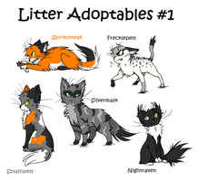 Closed Warrior Cat Litter Adoptables by acornheart465