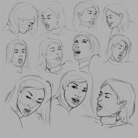 Face Drawing Study 01 by Celarx
