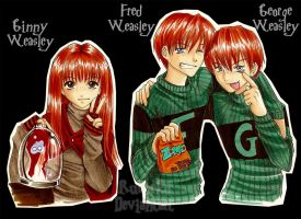 _Ginny, Fred and George_ by Rusneko