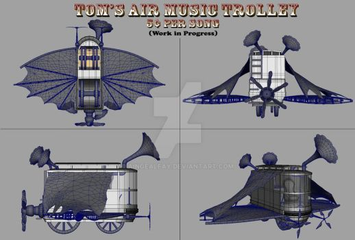 Tom's Air Music Trolley WIP by AingealFay