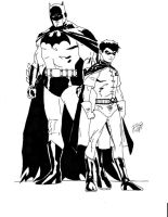 Batman and Robin art by TimDrakeRobin