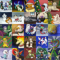 Christmas Pokemon! by racingwolf