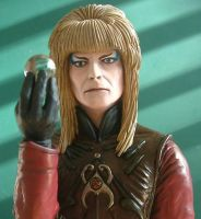 Labyrinth Jareth Bust painted by Skulpturen
