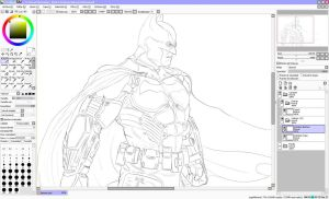 Batman - LineART_WIP1 by Unreal-Forever