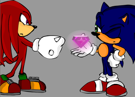Sonic and Knux by sweetkat22