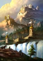 Elven Castle by Rob-Joseph