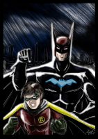 Batman and Robin - Robins turn. by adamantis