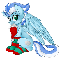 :COMMISSION: Christmas Cloudburst by ShyShyOctavia