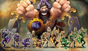 Merlin's Rage King Mark and the Goblins by RockyDavies