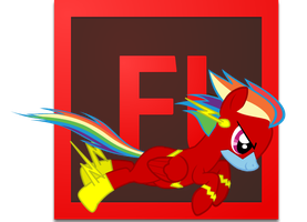 RainbowFlash Adobe Flash Icon by LaceOfTheMoon