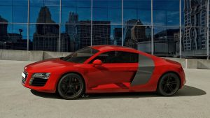 Audi R8 on top by yamell