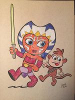 JeDora the Space Explorer and Chewboots by JamieCosley