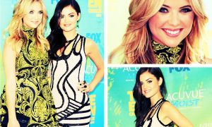 Ashley Benson Lucy Hale at TCA by JasWoosh