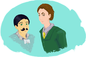 Poirot and Hastings by TroublsM