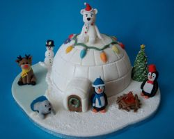 Christmas Igloo Cake by sparks1992