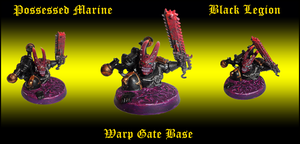 Possessed Marine With Warp Gate Base by Knyghtos