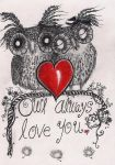 Owl Always Love You - Greeting Card for sale by InkyDreamz