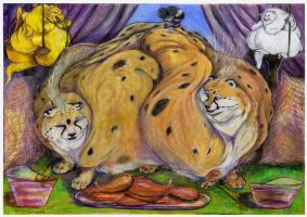Pair of fat cheetahs by SSsilver-c