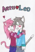 aeris x leo by HELLISH-Werewolf